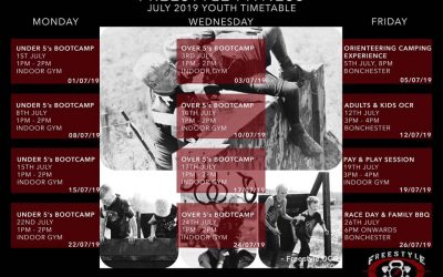 Team FreeStyle Youth July Timetable